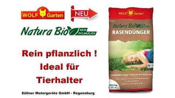 Wolf Garten Natura Bio Rasendünger 189 Kg Pflanzlich Aktionspreis