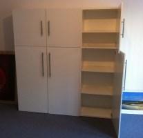 Bücherregal Besta Schrank Büro Regal Ikea weiss   eBay