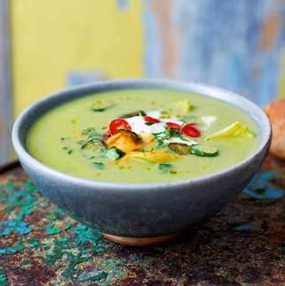 Courgette-aspergesoep Jamie Oliver