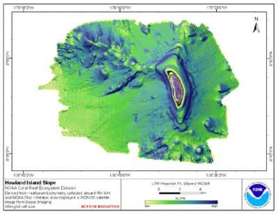 Howland Island: Geomorphology   Pacific Islands Benthic ...