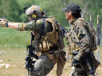 Combat Pistol Shooting at ISTC Range (Photo ISTC Flickr).