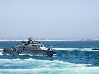 MKVI Patrol Boat in Pacific Ocean. Chief Petty Officer Nelson Doromal, Jr., May 10, 2018.