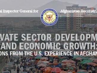 SIGAR Report on Sector Development April 2018