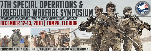 SOF and IW Symposium Tampa, Florida Dec 2018