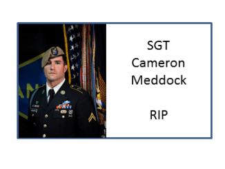 SGT Cameron Meddock Army Ranger Afghanistan 2019
