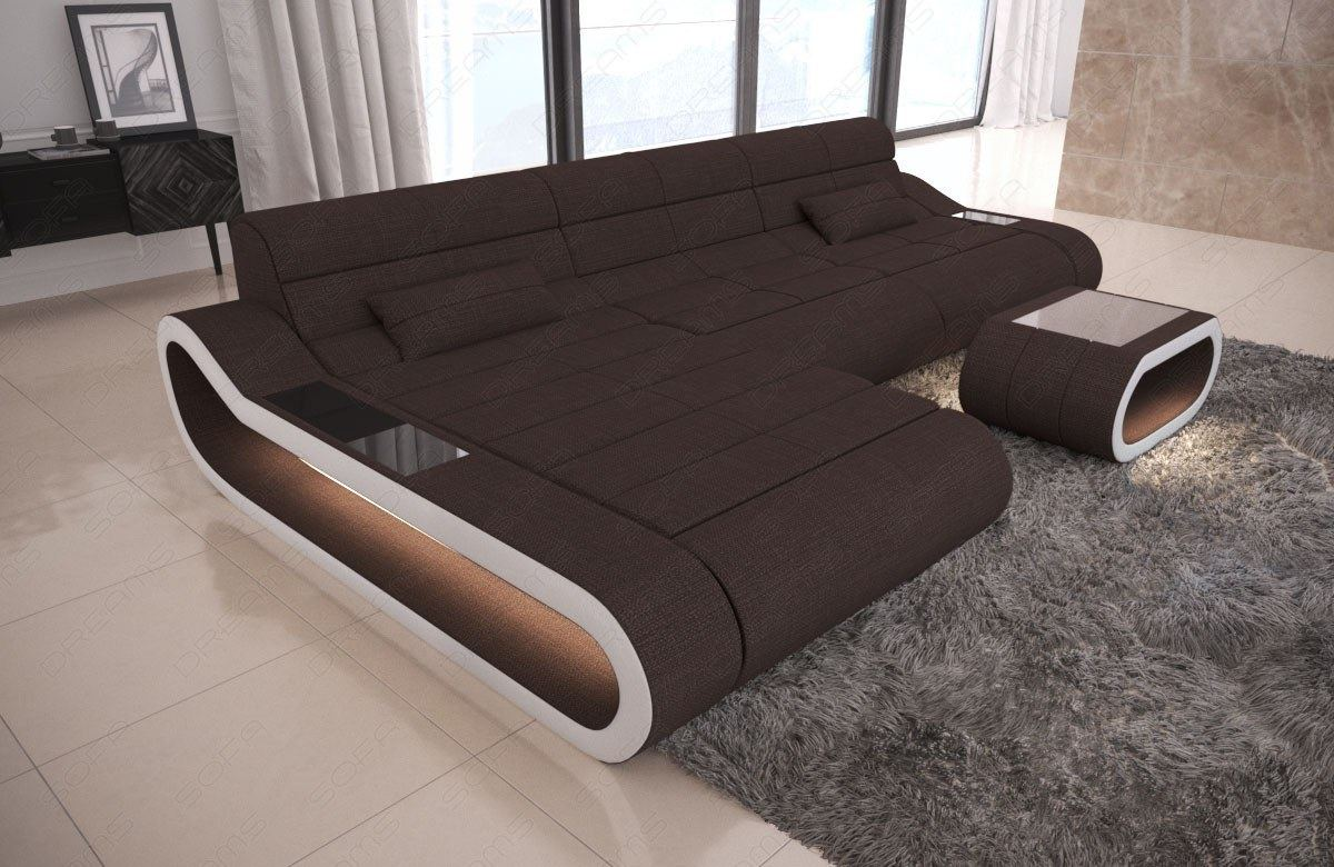 details about fabric sectional couch concept l shape long luxury design corner led light