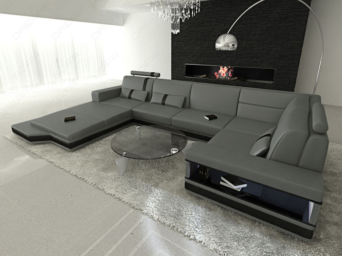 U form couch u form mit in schwarz farbe with u form couch home interior messana u shaped luxury leather sofa lighting grey with u form couch parisarafo Images