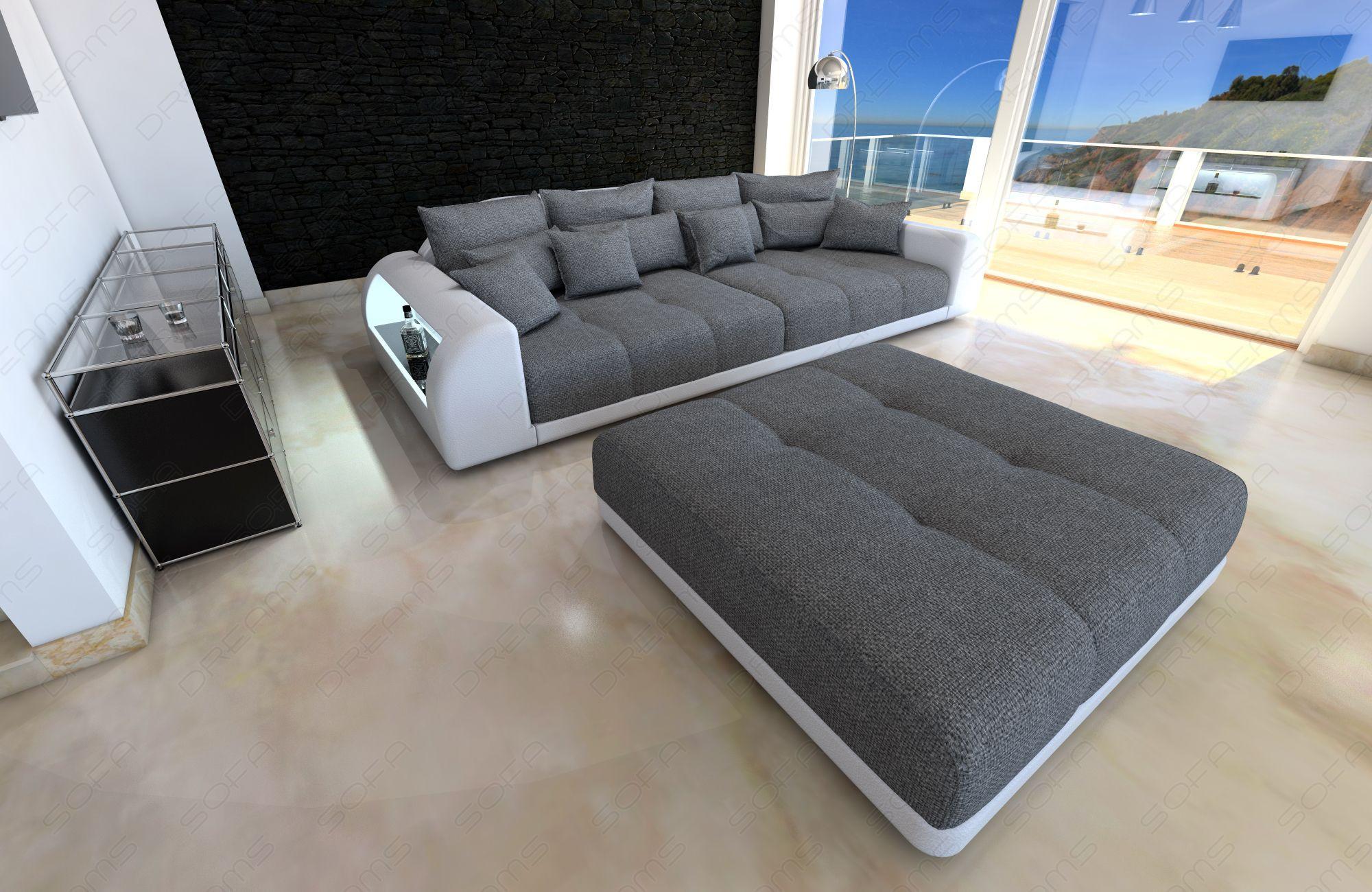 Stor Stofsofa Comfortzone Miami Led Mobler