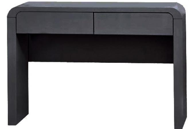 console 2 tiroirs noire ornella
