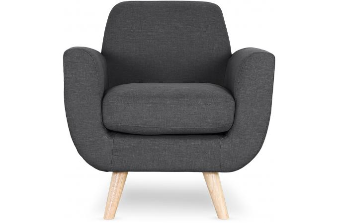 fauteuil scandinave tissu anthracite trell