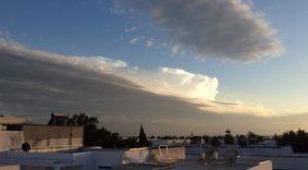 Wolkenballen in der Abendstimmung