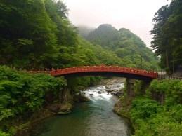 Die Shinkyo Brücke über dem Kinugawa Fluss