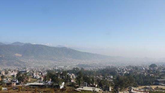 Sicht von der Seilbahn rüber ins Kathmandu-Tal