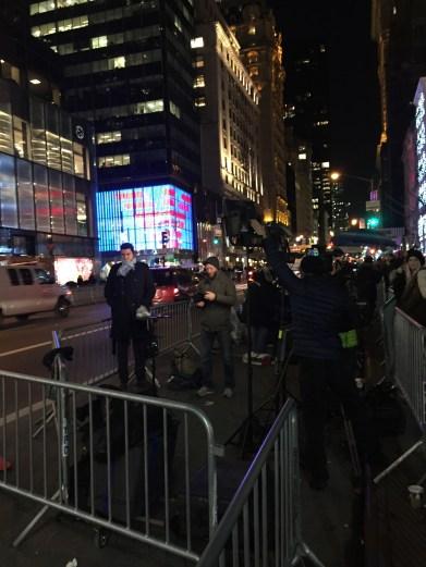 Presse vor dem Trump Tower vor ein paar Tagen
