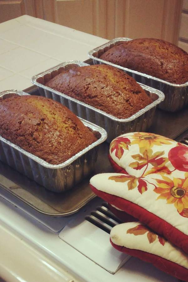 12 Days of Christmas Treats- Day 8-Christmas Pumpkin Bread
