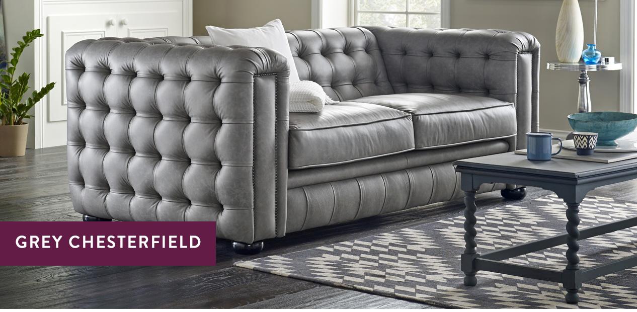 grey chesterfield sofas