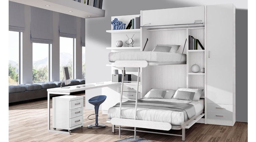 Muebles cama matrimonio perfect muebles bonitos cama de for Mueble litera abatible vertical