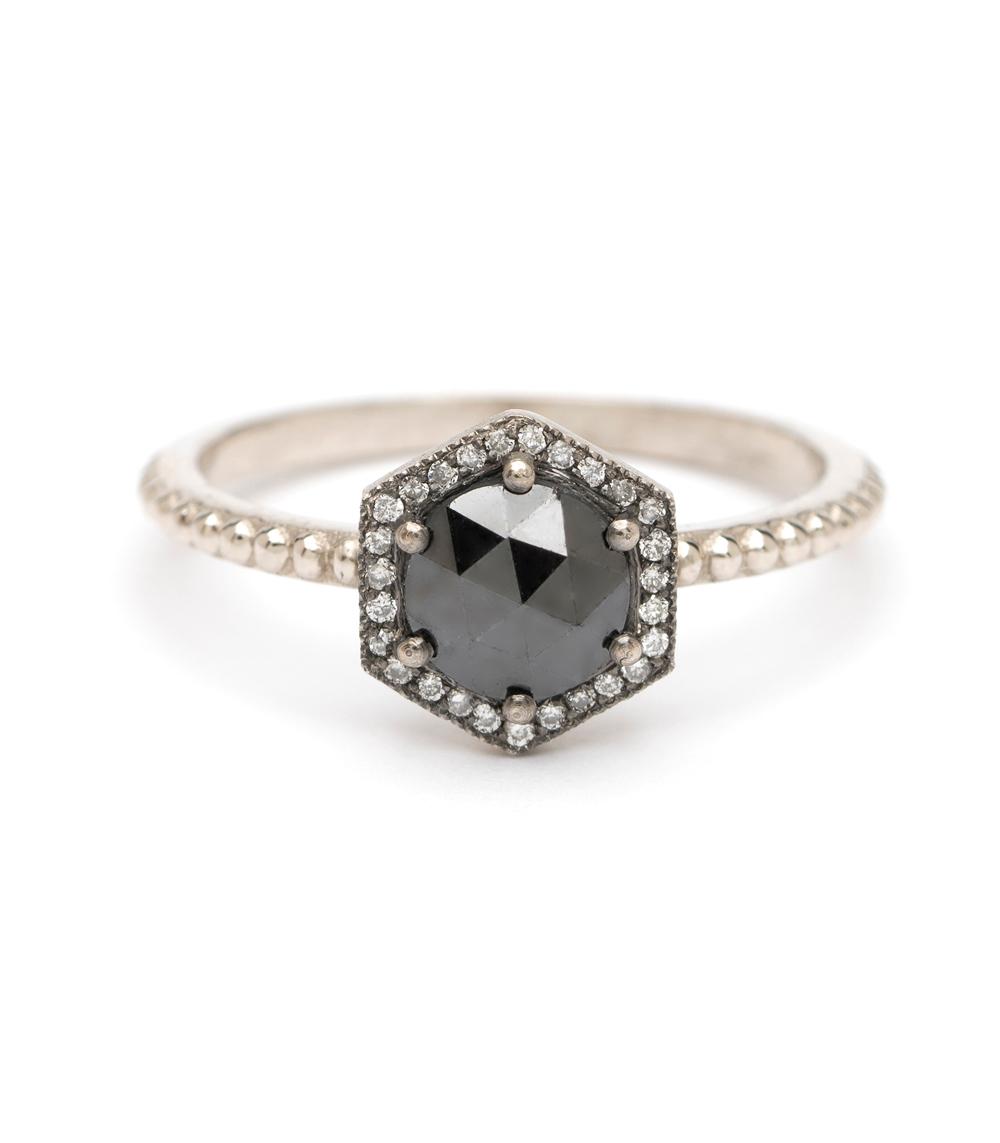 Aria Hexagon Halo Black Diamond