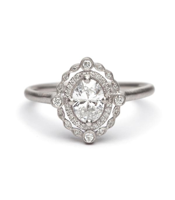 Engagement Rings Deco Decadence Platinum Oval Diamond Ring