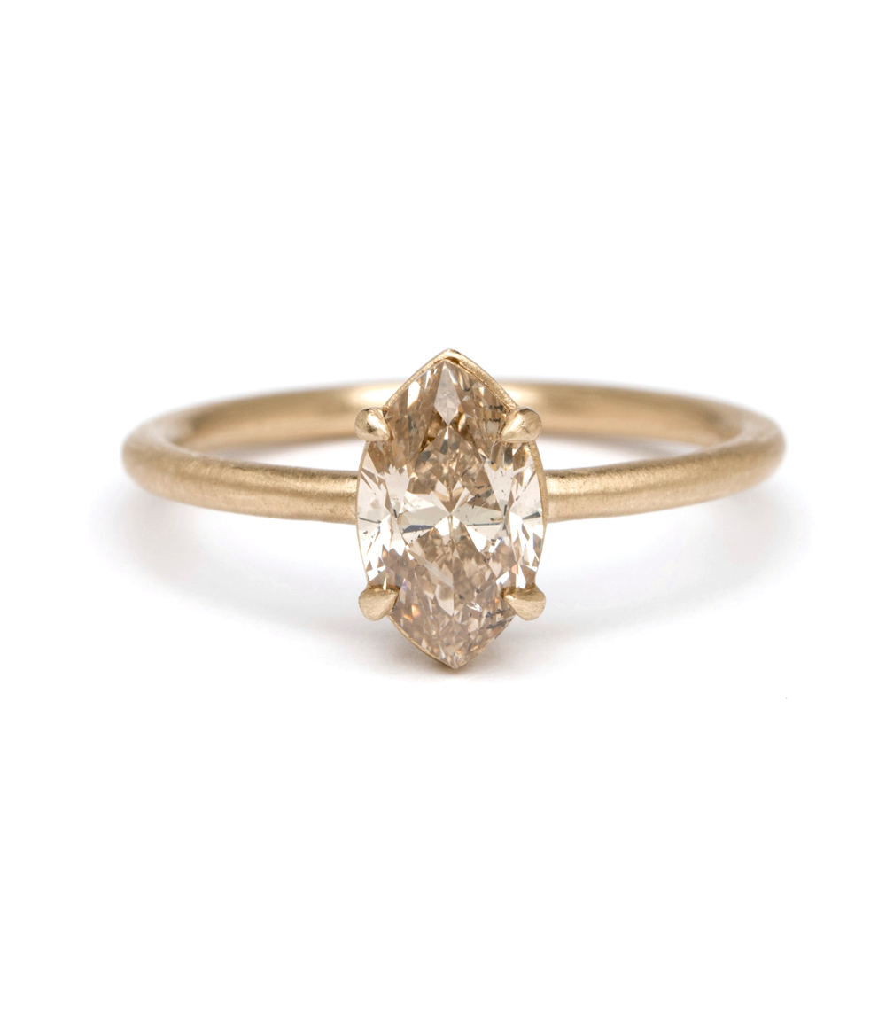 One Of A Kind Bridal Simple Solitaire Marquis Cut 1