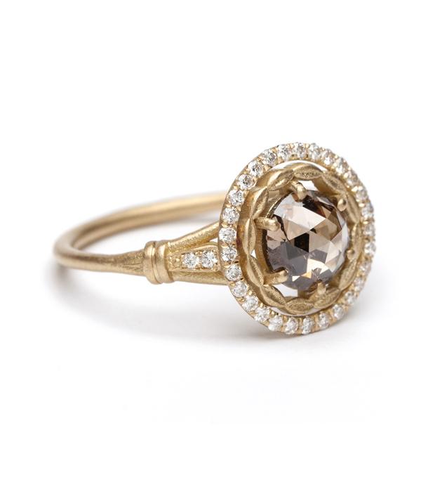 One Of A Kind Bridal Athena Halo Round Mogul Cut 0
