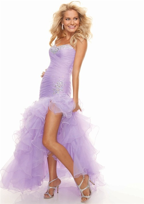 TrumpetMermaid Sweetheart Lilac High Low Prom Dress With