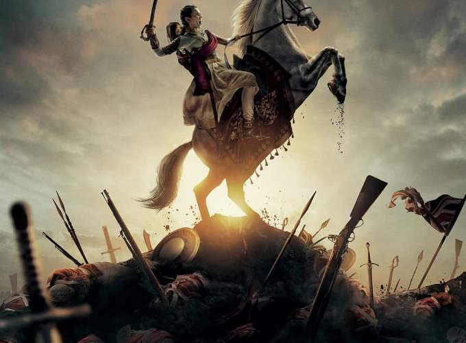 "Poster for the movie ""Manikarnika: The Queen of Jhansi"""
