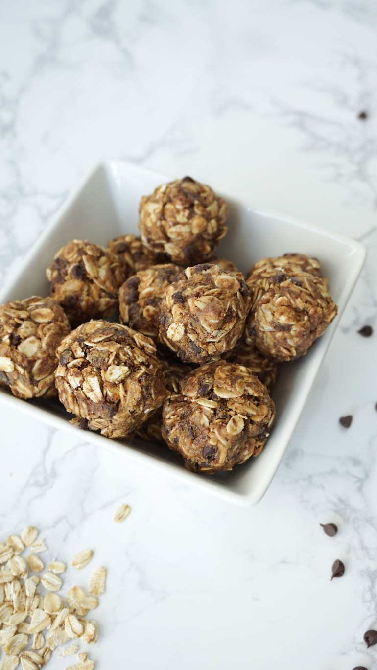 No Bake | 5 Ingredient | Peanut Butter Protein Bites