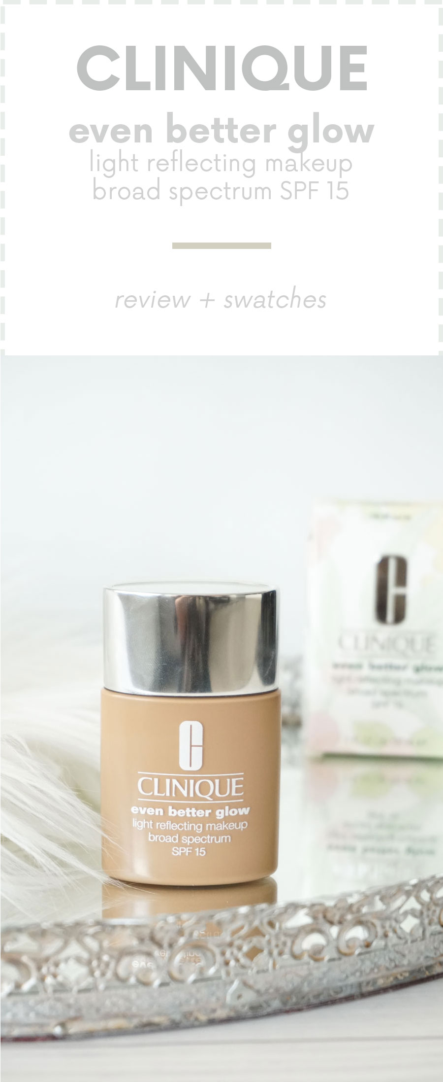 Clinique even better makeup foundation review swatches before - I Couldn T Wait To Give This A Try Clinique Even Better Glow Foundation