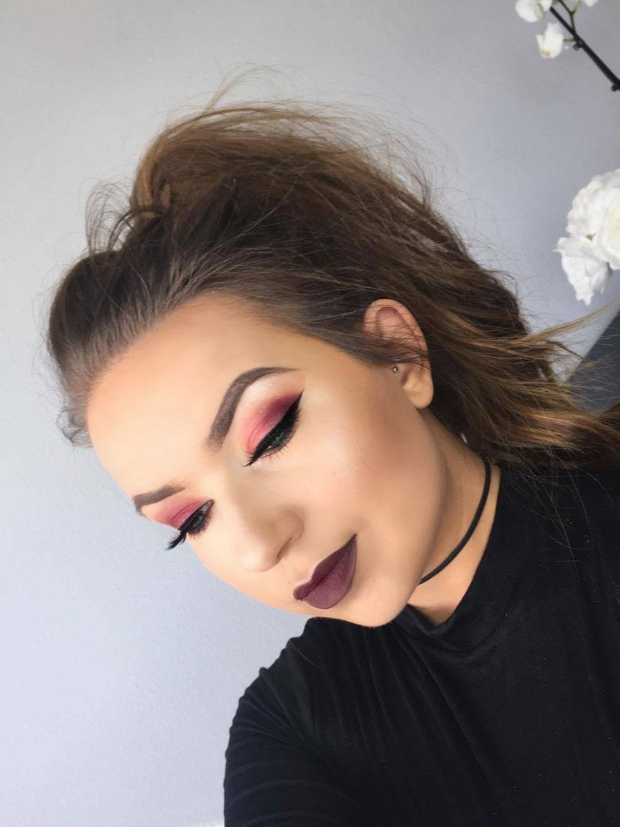 Cranberry Eyeshadow: Fall Makeup Tutorial - Cranberry Tones