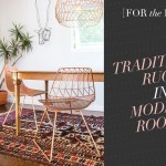 [For the Home] Traditional Rugs in Modern Rooms