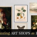 7 Amazing Etsy Art Shops!