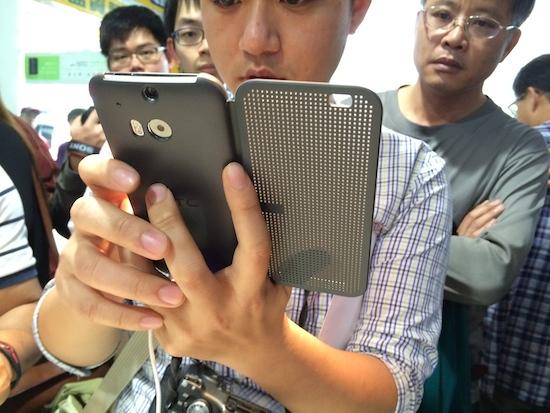 HTC One(M8) 亞洲首賣,4/30 前購買送 Dot View 炫彩顯示保護殼 2014-03-28-14.13.04