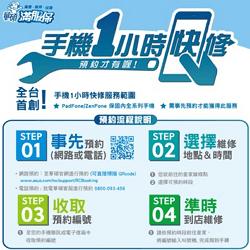 華碩首創「手機1小時快修」服務,Padfone/Zenfone 全系列機種