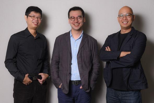 【圖七】LINE 2015首度贊助台灣最大的駭客與資安技術研討會HITCON,LINE台灣技術總監陳鴻嘉(左)、LINE資安長李錫燦(中)、LINE資安室室長林萬基(右)專程訪台
