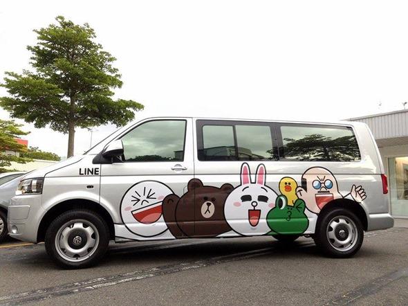 【圖四】LINE SANTA送校車給偏鄉國小學童