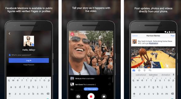 現在 Android 也能用 Facebook Mentions 跟粉絲視訊直播囉! android-facebook-mentions