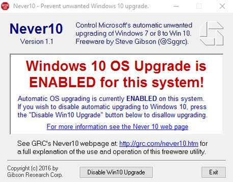 如何禁止 Windows 7/8/8.1 自動更新/升級到 Windows 10 9fd2fe4efa15513d