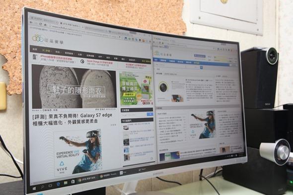 電腦螢幕也有劇院級的影音享受,Samsung C27F591FDE 曲面顯示器評測