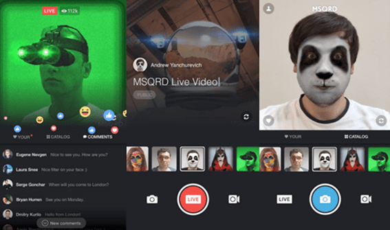 msqrd intergrate with facebook live stream