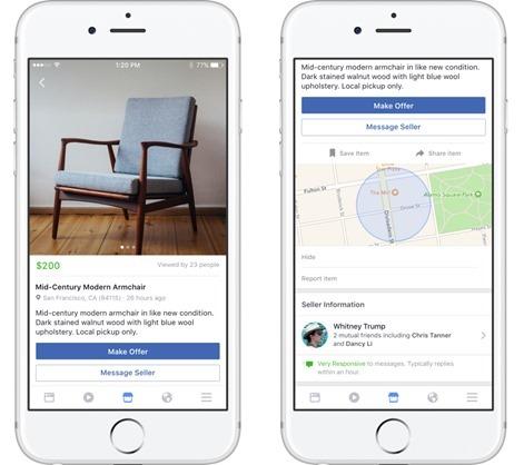 Facebook推出Marketplace功能,線上買賣、開店3步完成! pdp_us