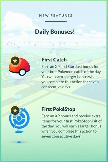 Pokemon go daily bonuse