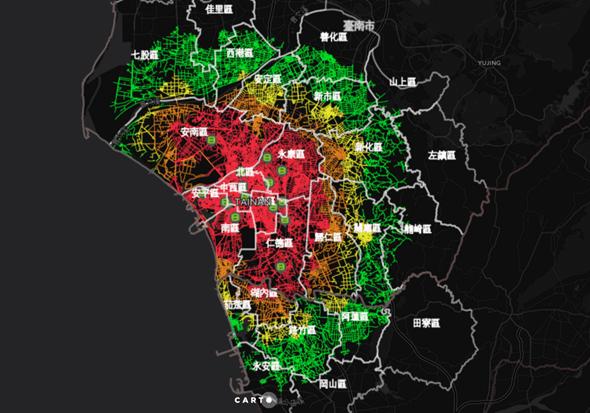 台南版Gogoro電池交換站地圖,換電站服務距離一目了然 Gogoro-GoStation-Tainan-Richi