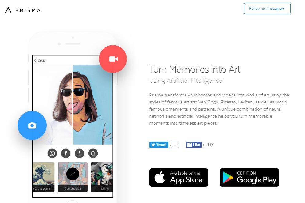 這些你都用過嗎?蘋果公佈2016最佳App,「Prisma」奪冠!