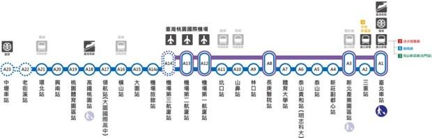出國不迷路!桃園機場捷運資訊、桃機捷運轉乘高鐵/台鐵、捷運板南線、淡水線、松山新店線總整理 %E6%A1%83%E6%A9%9F%E8%B7%AF%E7%B7%9A_thumb