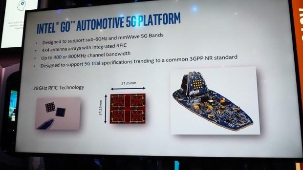 Intel 在 MWC 展示第一個支援 5G 通訊技術的 Intel Go 自動駕駛平台 P2270761