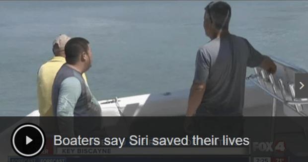 iPhone 7 的 Siri 救了三位意外翻船落水的邁阿密漁民 00215