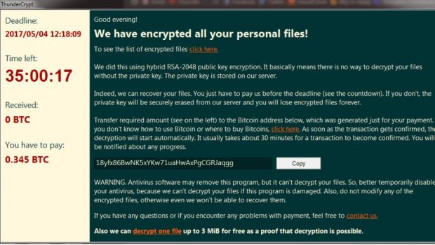 知名論壇疑似被植入勒索病毒,網友八年檔案全部無法開啟 ThunderCrypt-ransomware