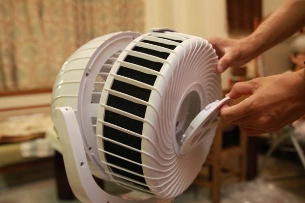 「Day Plus 空氣濾淨創風機」電扇+空氣清淨機合體 製造乾淨空氣、節省居家空間 IMG_6936