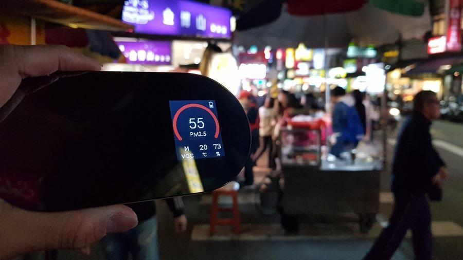 [實測空汙] 飄滿香味的夜市空氣品質如何? 走一趟臨江街夜市 (通化夜市)吧! 20180117_203411
